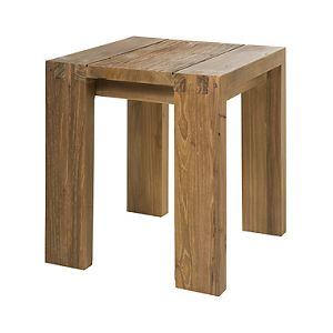 Recycled teak wood stool