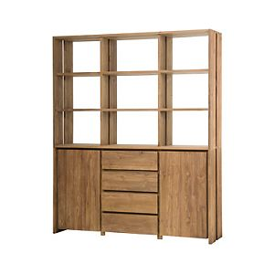 Large cabinet from recycled teak wood
