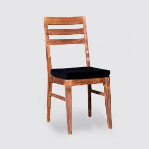 Recycled teak wood dining chair
