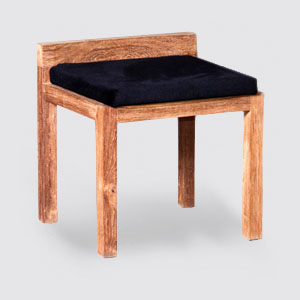 Wooden stool from recycled teak